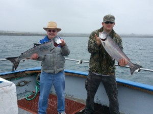 May 8th, 2014 left; Bart Wade from Yuba City- 13 lbs & Josh Lamora from Chico- 12 lbs