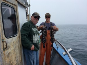 Bruce Goddard with the best catch of the day with 2 keeper lings at once!!